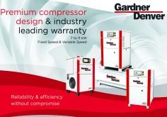 Нові масляні компресори, 7-11Kw від Gardner Denver. Впровадження нового асортименту