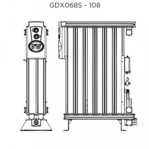 Адсорбційні осушувачі зі швидкістю потоку від  6.8 до 102 м3/хв